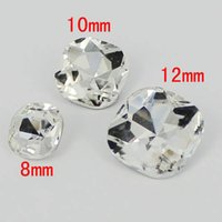 angle shoes - Square With Round Angle Square Shape Luxury Stone With Silver Foiled Crystal Stones Great For Scrap Booking Shoes Dresses Diy