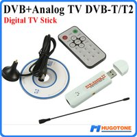 Wholesale Digital DVB T2 TV Stick PVR Analog USB TV Tuner Dongle Remote HD TV Receiver for DVB T2 DVB C FM DVB AV