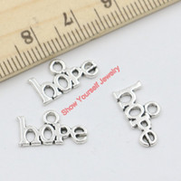 antique gold tone - 30pcs Antique Silver Tone Hope Charms Pendants for Jewelry Making DIY Handmade Craft x16mm A104 Jewelry making DIY