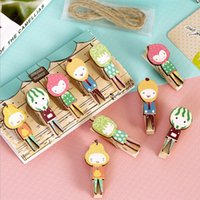 antique woodworking - Deal Kawaii Mini Natural Painted Watermelon Cute Wooden Paper Clips clamps for woodworking memo clips photo holders