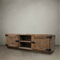 american tv stands - American French European country red Pine furniture simple TV Stand TV Bench creative Cabinet