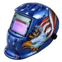 Wholesale Great Welding Soldering Supplies Solar Auto Darkening Welding Helmet Welding Mask Arc Tig Mig Grinding Eagle Black H9556