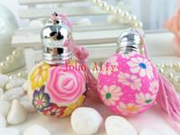 Wholesale Random colour Refillable mini ML ROLL ON Ceramics BOTTLES ESSENTIAL Oil Roller ball Empty PERFUME