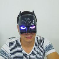 Wedding bat man costumes - LED Light Batman Mask Cosplay Bat Man Halloween Mask Superhero Avengers Mask Masquerade costume