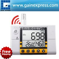 Wholesale Digital Wall Mount Indoor Air Quality Temperature RH Carbon Dioxide CO2 Monitor Meter Sensor Controller ppm Range
