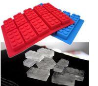 Wholesale LFGB Block Brick Ice Mold Silicone Ice Cube Tray