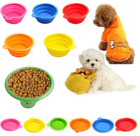 Wholesale Fast Pet Products silicone Collapsible Bowl Puppy Dog folding portable bowls for food drinking water