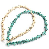 Wholesale 38Pcs Strand Lovely Starfish Loose Spacer Blue White Turquoise Beads DIY Small Seed Necklace Beads