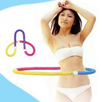 Wholesale PVC Fashion Korean Soft Spring Hula Hoop Elastic Waist Slimming Fitness Abdominal Exercisers