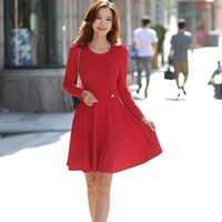 Wholesale New Fashion OL Women Ladies Office Dress Clothes Bodycon Slim Work Dress Red or Black without belt