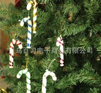 beautiful canes - 6pcs Christmas candy cane decorated gift Christmas ornament new year enfeites de natal beautiful noel