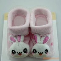 baby doll booties - New Arrival Pieces Soft Cotton Baby Newborn Socks Short Non slip Booties Lovely D Animals Dolls Socks Y079