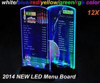 Wholesale DHL Free ship new led table menu board Restaurant menu Display acrylic led light bar menu