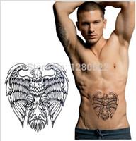 big hawk - sheet hot Black Eagle Hawk large Temporary Tattoo D stickers tattoo big arm Body tattoos stickers waterproof men