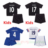 kids football shirts - Whosales Chelsea Soccer Jerseys sets Chelsea FC Jerseys Football Shirt HAZARD kid OSCAR kits DIEGO COSTA Free Shippinng Thai Quality