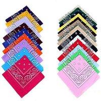 silk head scarves - 2015 Newest Cotton Blend Hip hop Bandanas For Male Female Men Women Head Scarf Scarves Wristband Drop shipping