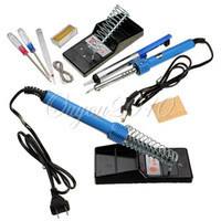 Wholesale Electric Soldering Starter Tool Kit Set With Iron Stand Desoldering Pump Including Accessories