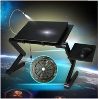 portable laptop computer stand - Foldable Laminating Laptop Desk Notebook Table Portable Computer Stand Laptop Table With Cooler And Mouse Pad