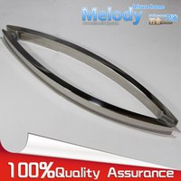 Wholesale H010 Frameless Shower Door Square tube Moon Bend Handle stainless steel Polish Chrome C C mm
