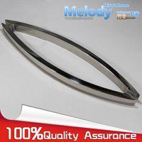 bent door - H010 Frameless Shower Door Square tube Moon Bend Handle stainless steel Polish Chrome C C mm