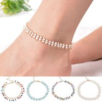 Wholesale 1PC New Multicolor Beaded Golden Ankle Bracelet Boho Foot Anklet Jewelery