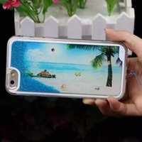 beach iphone cases - Shining Clear Transparent Case Cover Sundowners Beach Sand Glitter Liquid Stars Quicksand Hard Back Phone Cases For iPhone S Plus