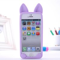 Wholesale Korea Style Koko Cat Soft Silicone Cover cases for iphone s s accessories of protective sleeve
