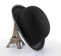 Wholesale Vintage Black Bowler Hat Charlie Chaplin Cap Hats Costume Fancy Dress
