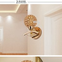 Wholesale 2015 High Quality New Modern Crystal Wall Lamp Sconces Bracket light Wall fitting Lighting H240mm From Lights Factory