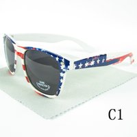 american flag sunglasses - Hot Sale Men Sunglasses Women Brand Designer Sun Glasses American Flag Pattern Mix Colors