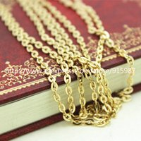 Wholesale Fashion Jewelry Findings diy Accessories charm pendant Iron KC golden Chain width MM Flat O chain Meter