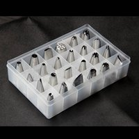Wholesale 24Pcs Set Box Set Icing Piping Nozzles Pastry Tips Cupcake Cake Decorating Diy Tool Kitchen Accessories