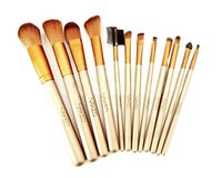Wholesale HOT NEW Nude Makeup Brushes Nude piece Professional Brush sets Gold package or Black Package DHL
