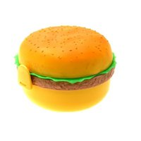 Wholesale Hamburger Shape Plastic Bento Lunch Box w Fork Spoon Wonderful Gift bento lunch box for kids lunchbox TY1473