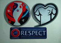 Wholesale france UEFA EURO Qualifiers patch PLAY WITH HEART RESPECT soccer patch soccer Badges