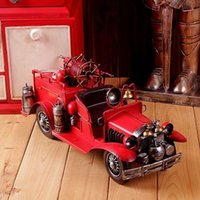 Wholesale Iron Handmade Four wheel Car Mold Retro Home Decoration Mold Metal Art WJQ