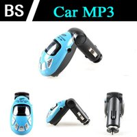 Wholesale 10pcs beetle car mp3 player fm transmitter tf sd usb flash drive remote control Hot sale