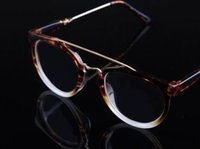 cheap stylish glasses df51  2015 The new Korean Men And Women Stylish Flat Mirror Double Beam Section  Glasses Frame Personality Fashion Decorative Retro Sunglasses