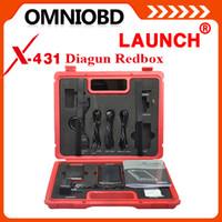 achat en gros de x431 bluetooth-2016 Diagun PAD + Bluetooth X431 Launch Scanner Dernières multi-langue Version Mise à jour gratuite du lancement X431 Diagun Red Box