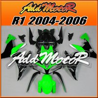 fairing r1 - Addmotor Injection Mold Fairing For Yamaha YZF R1 YZF R1 Green Black Y1428 Free Gifts Full Tank Cover