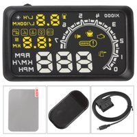 large screen display - 10pcs W02 quot Large Screen Car HUD Head Up Display Projector Speeding Warning System12V OBDII OBD2 KM h Car PC Driving Data DHL free