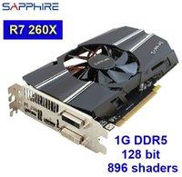 Wholesale 2014 brand Sapphire AMD Radeon R7 X video card high end ATI graphics card G DDR5 bit DX11 DVI HDMI DP