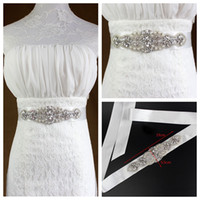 Wholesale Top Amazing Bridal Ribbon Rhinestone Pearls Beaded Bride s Wedding Sashes Belts Western Fashion Waistbands Luxurious Bridal Accessories