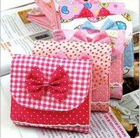 Cheap 2015 New Bowknot Bow sanitary napkin bag storage bag night use sanitary napkin bag c524 Free Shipping