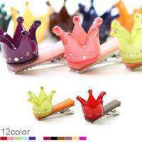bb lucky - Cartoon color lucky crown small BB clip FS00268