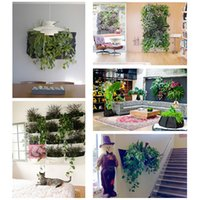 Wholesale Novelty Pockets Vertical Garden Planter Wall mounted Polyester Home Gardening Flower Planting Bags Living Indoor Wall Planter