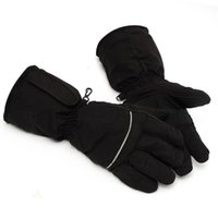 battery heated motorcycle gloves - Black Heated Gloves Battery Powered For Motorcycle Hunting Winter Warmer Outdoor Skiing Glove