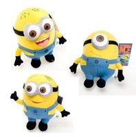 Wholesale The Minions Plush Toys Inches CM D Eyes Movie Despicable Me Kevin Stuart Bob Stuffed Dolls Children Birthday Christmas Promotion Gift