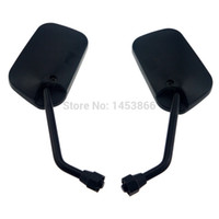 Wholesale Universal Left Right Motorcycle Mirrors Rear View For Kawasaki Honda Suzuki mm order lt no track