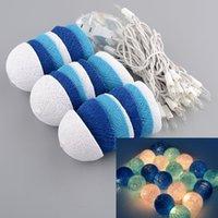 Wholesale Aladin Romantic M Blue Creative Handmade Cotton BALL String Light For Xmas Feast Banquet Decoration